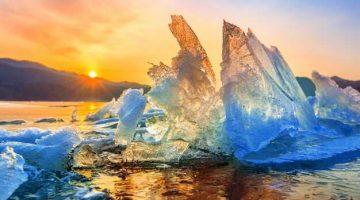 stopiony lodowiec efekt globalnego ocieplenia
